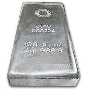 10 Ounce Silver Bar Size