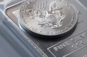 silver coin and bar